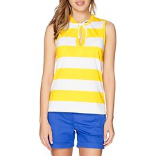 Picture of Striped Short Sleeve Drawstring Polo