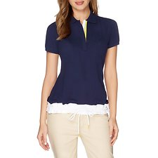 Picture of Drawstring Hem Polo