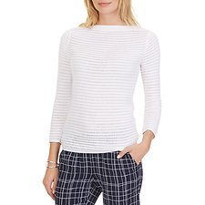 Picture of 3/4 Sleeve Drop Stitch Sweater