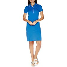 Picture of 5 Button Cotton-Modal Tipped Polo Dress