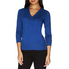Image of Nautica BRIGHT COBALT Long Sleeve Essential V-neck Sweater