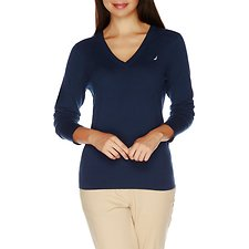 Picture of Long Sleeve Essential V-neck Sweater