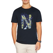 Picture of SHORT SLEEVE CREW NECK PIXEL PRINT T-SHIRT