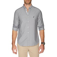 Picture of Button down collar long sleeve stretch Oxford shirt
