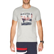 Picture of SHORT SLEEVE NAUTICA SAILOR SHIP GRAPHIC TEE
