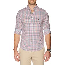 Picture of Long sleeve wrinkle resistant gingham shirt