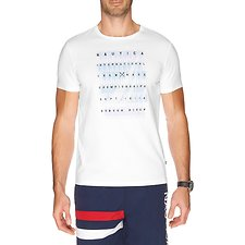 Image of Nautica BRIGHT WHITE INTERNATIONAL CREW RACE GRAPHIC T-SHIRT