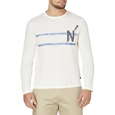 Image of Nautica MARSHMALLOW OAR GRAPHIC LONG SLEEVE TEE