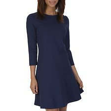 Picture of THREE QUARTER SLEEVE KNIT PONTE DRESS
