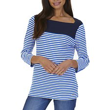 Picture of BRETON STRIPE ENVELOPE NECK TOP