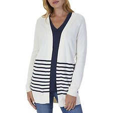 Picture of BRETON STRIPE FLYAWAY CARDIGAN