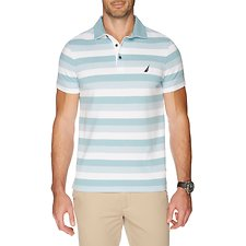 Image of Nautica CAMEO BLUE GRADIENT STRIPE SHORT SLEEVE POLO
