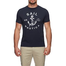 Image of Nautica TRUE NAVY AUTHENTIC ANCHOR SHORT SLEEVE TEE