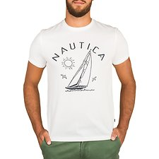 Image of Nautica BRIGHT WHITE CALIFORNIA SAIL TEE
