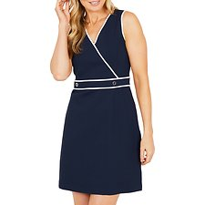 Picture of WRAP PONTE DRESS