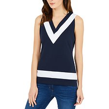 Image of Nautica NAVY SEAS S/L DEEP V TOP