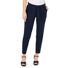 Image of Nautica NAVY SEAS PLEATED PANT W/BELT