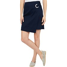 Image of Nautica NAVY SEAS A LINE WRAP SKIRT