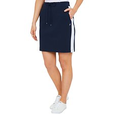 Image of Nautica NAVY SEAS HERITAGE STRIPE TRACK SKIRT