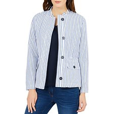 Image of Nautica BRIGHT WHITE DUNE STRIPE JACKET