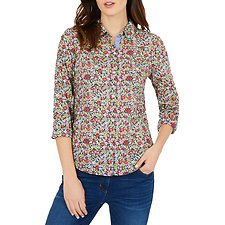 Image of Nautica NAVY SEAS L/S BEACH FLORAL PRINT SHIRT