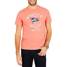 Image of Nautica SPICY ORANGE BiG & TALL SAIL FLAG SHORT SLEEVE TEE