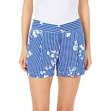 Image of Nautica BRIGHT COBALT PLEATED FLORAL STRIPE SHORT
