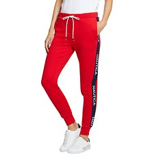 Image of Nautica BRIGHT RED SPINNAKER HERITAGE TRACK PANTS