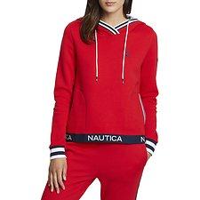 Image of Nautica BRIGHT RED SPINAKKER HERITAGE HOODIE