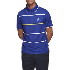 Image of Nautica  NAVTECH COLOUR POP STRIPE POLO SHIRT