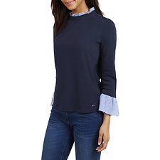 Image of Nautica  STRIPED UNDERLAY SWEATERS