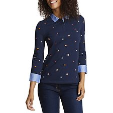 Image of Nautica  SIGNAL FLAG LONG SLEEVE POLO