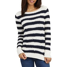 Image of Nautica  STRIPED CABLE KNIT SWEATER
