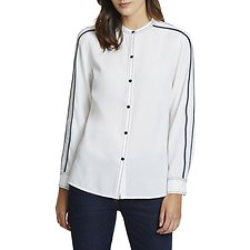 Image of Nautica MARSHMELLOW DOUBLE STRIPE LONG SLEEVE SHIRT