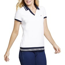 Image of Nautica  NAUTICAL CONTRAST COLLAR POLO