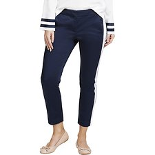 Image of Nautica NAVY SEAS CONTRAST PANEL SLIM FIT PANTS