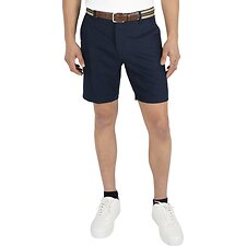 Image of Nautica NAVY COTTON LINEN SHORT