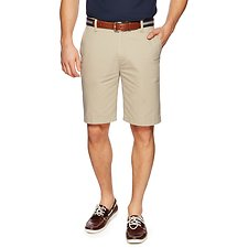 Image of Nautica TRUE KHAKI FLAT FRONT SHORT