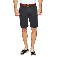 Image of Nautica TRUE NAVY FLAT FRONT SHORT