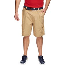 Image of Nautica RAW UMBER POPLIN CARGO SHORT