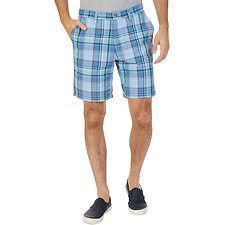 Image of Nautica NOON BLUE BiG & TALL ROADMAP PLAID SHORT