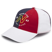Image of Nautica NAUTICA RED BLUE WATER CHALLENGE CLRBLK CAP