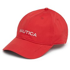 Image of Nautica NAUTICA RED RAINBREAKER PRINTED BASEBALL CAP