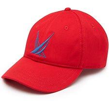 Image of Nautica NAUTICA RED BLUE SAIL LARGE LOGO BASEBALL CAP