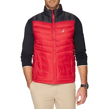 Image of Nautica TRUE NAVY REVERSIBLE DOWN QUILTED VEST