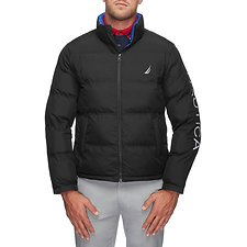Image of Nautica TRUE BLACK ENDEAVOUR LOGO PUFFER JACKET