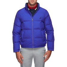 Image of Nautica BRIGHT COBALT ENDEAVOUR LOGO PUFFER JACKET
