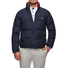 Image of Nautica NAVY ENDEAVOUR LOGO PUFFER JACKET