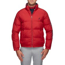 Image of Nautica NAUTICA RED ENDEAVOUR LOGO PUFFER JACKET