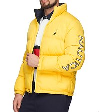 Image of Nautica BUOY YELLOW ENDEAVOUR LOGO PUFFER JACKET